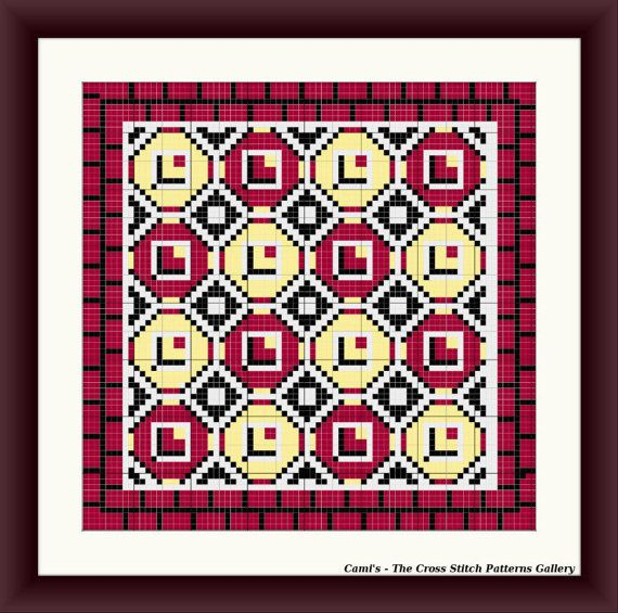 Traditional Geometry Cross Stitch Pattern by CamisTheCrossStitch