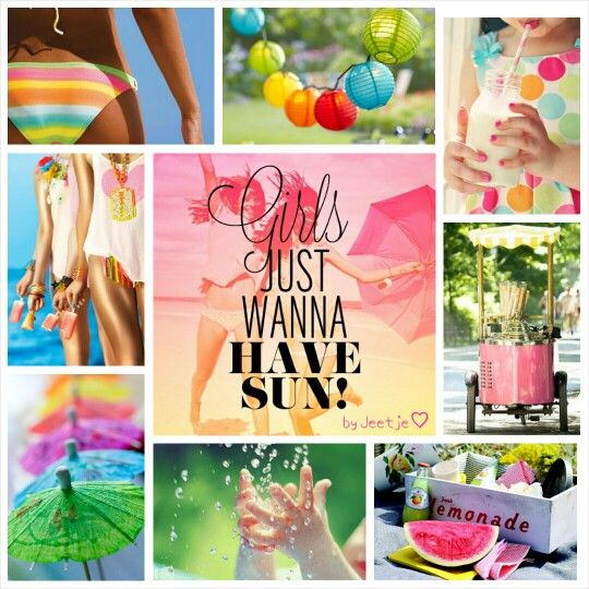 Girls just wanna have sun! #moodboard #collage #mosaic by Jeetje♡