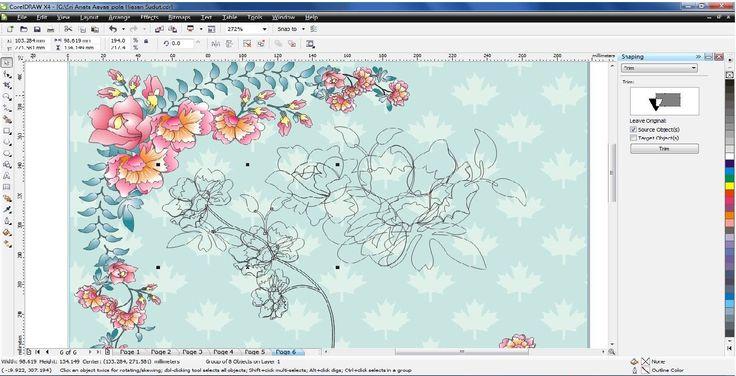 creating floral motif