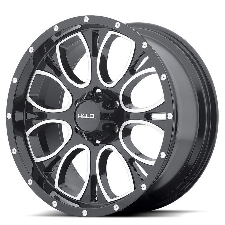 Helo Wheels HE879 Gloss Black Machined And Milled