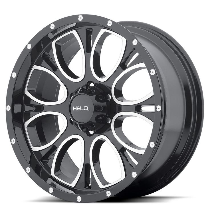 Helo Wheels HE879 Gloss Black Machined And Milled