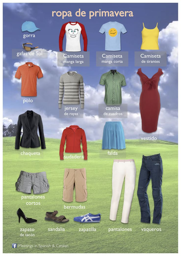 ROPA DE PRIMAVERA ∕ SPRING CLOTHES ✿ More inspiration at http:∕∕espanolautomatico.com ✿ Spanish Learning∕ Teaching Spanish ∕ Spanish Language ∕ Spanish vocabulary ∕ Spoken Spanish ∕ Free Spanish Podcast ∕ Español Automatico ✿ Share it with people who are serious about learning Spanish!