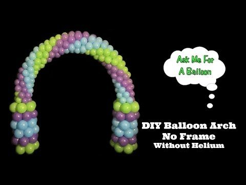 17 best images about balloon arches on pinterest dance for Balloon arch no helium