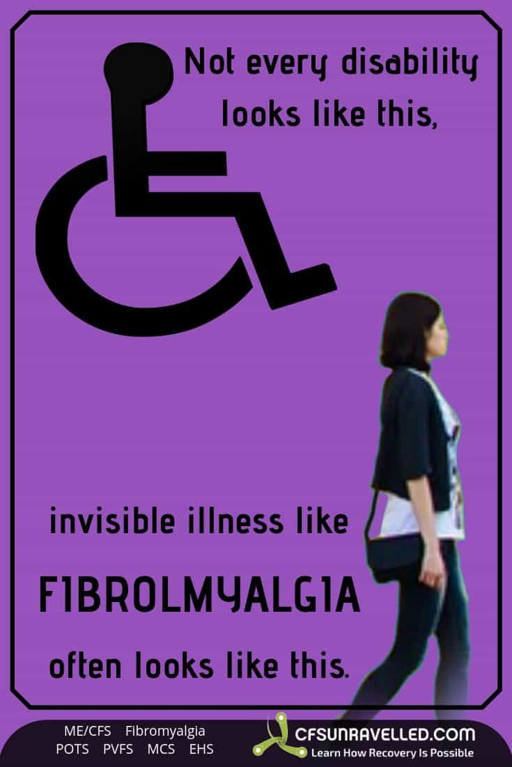 Fibromyalgia A Reminder That Not All Disabilities Are Visible Fibromyalgia Fibromyalgia Awareness Invisible Illness Awareness