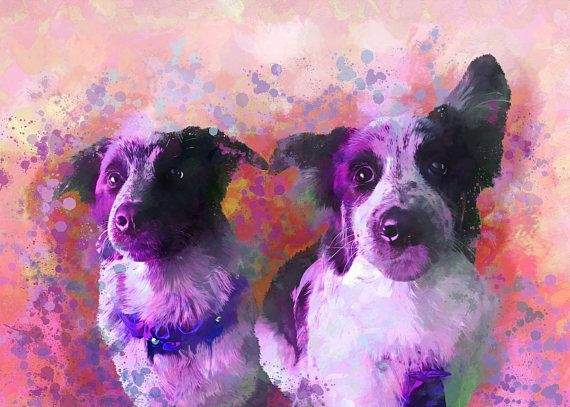 Custom Dog Portrait Custom Pet Portrait Custom Dog Painting