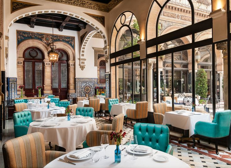 Hotel Alfonso XIII, A Luxury Collection Hotel, Seville Seville, Ruta Via de la Plata restaurant interior design meal function hall several