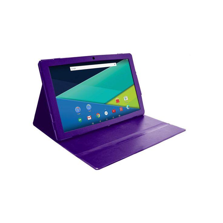 Visual Land Prestige Elite 13Q Quad Core 64GB 13.3-Inch Android 5 Lollipop Tablet with Profolio Case (ME13QTC64MAG), Purple