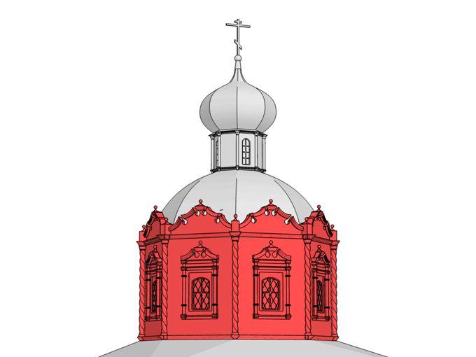 Восьмерик – часть здания, восьмиугольная в плане. В храмах нарышкинского стиля верхние ярусы часто имеют форму восьмерика.