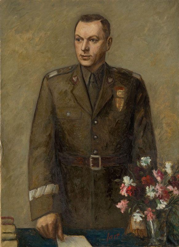 Portret Marszałka Rokossowskiego, lata 50-te XX w. (autor nieznany) / Portrait of Marshal Konstanty Rokossowski, 1950's (artist unknown)