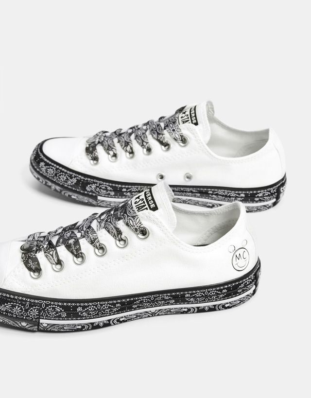 92b09165970ece Converse X Miley Cyrus fabric sneakers - Bershka  conversexmiley  converse   mileycyrus  miley  chucktaylor  fashion  product  young  trend  trendy   sneakers ...