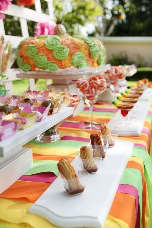 Churros and chocolate at a Cinco de Mayo party! See more party planning ideas at CatchMyParty.com!