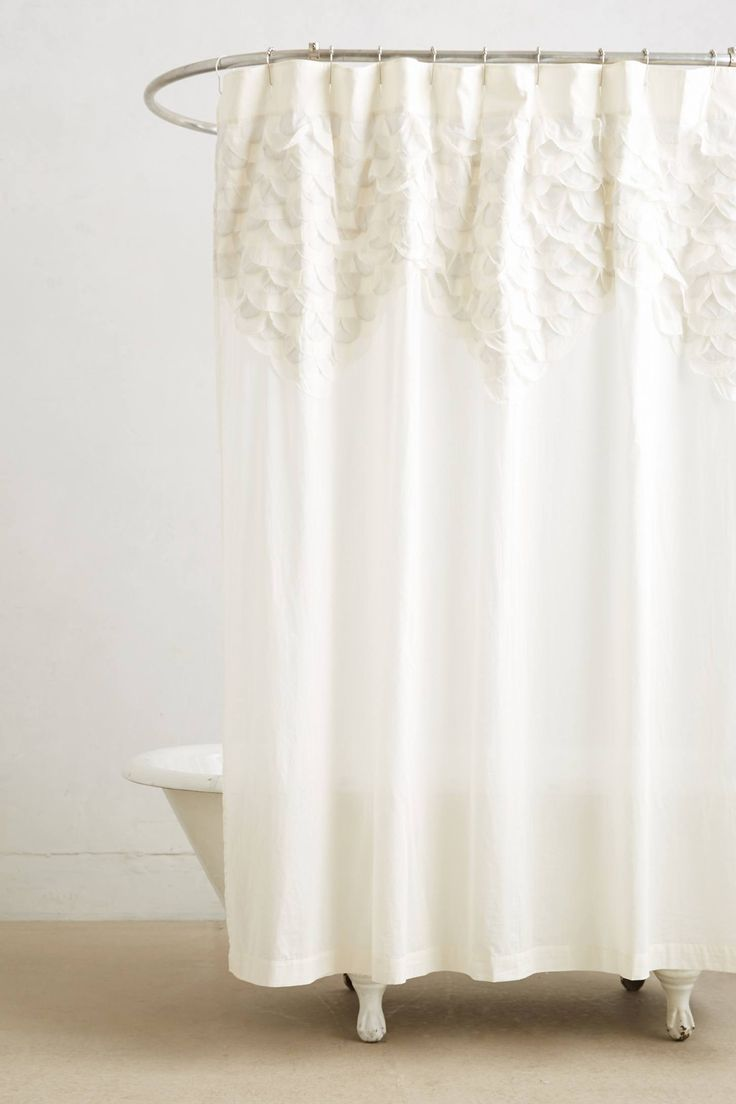 Best Images About Home Bathroom Products Shower Curtains - White linen shower curtain