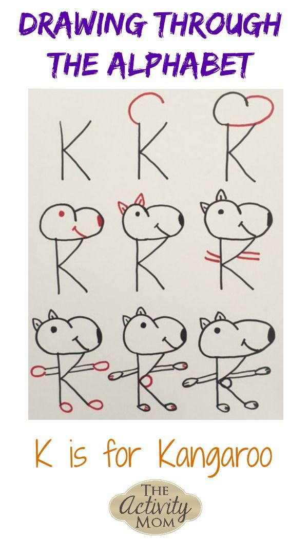 The Activity Mom - Drawing Through the Alphabet Letter K - The Activity Mom