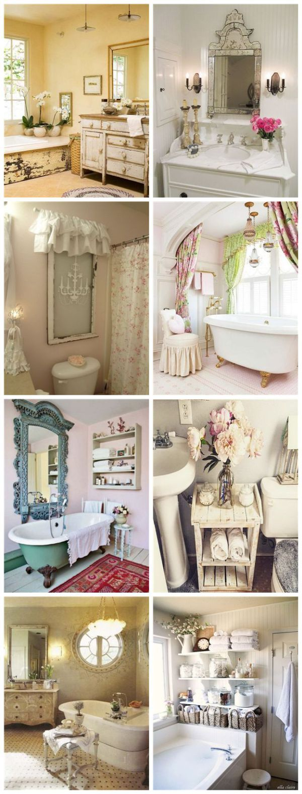 616 best images about Shabby Chic Bathrooms on Pinterest Shabby