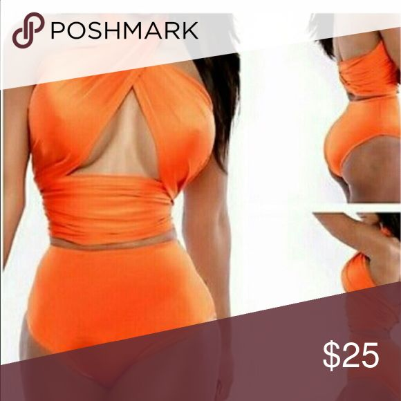 Beautiful orange Two Piece Bikini NWOT Beautiful orange Two Piece Bikini NWOT Swim Bikinis