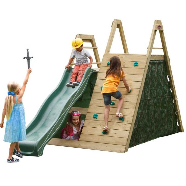 Plum Climbing Pyramid Wooden Play Centre with FREE Accessory