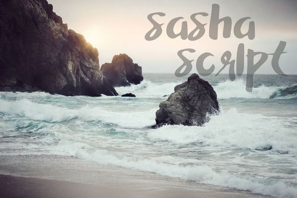 Sasha Script, A Hand Painted Font by Chateau Petit on Creative Market