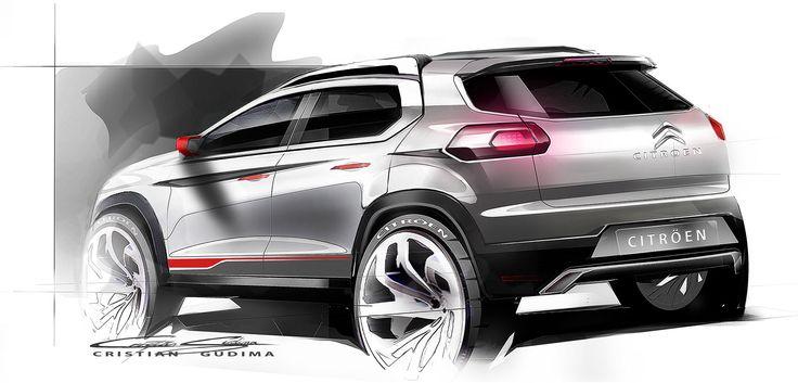 Citroen C-XR Concept - Design Sketch
