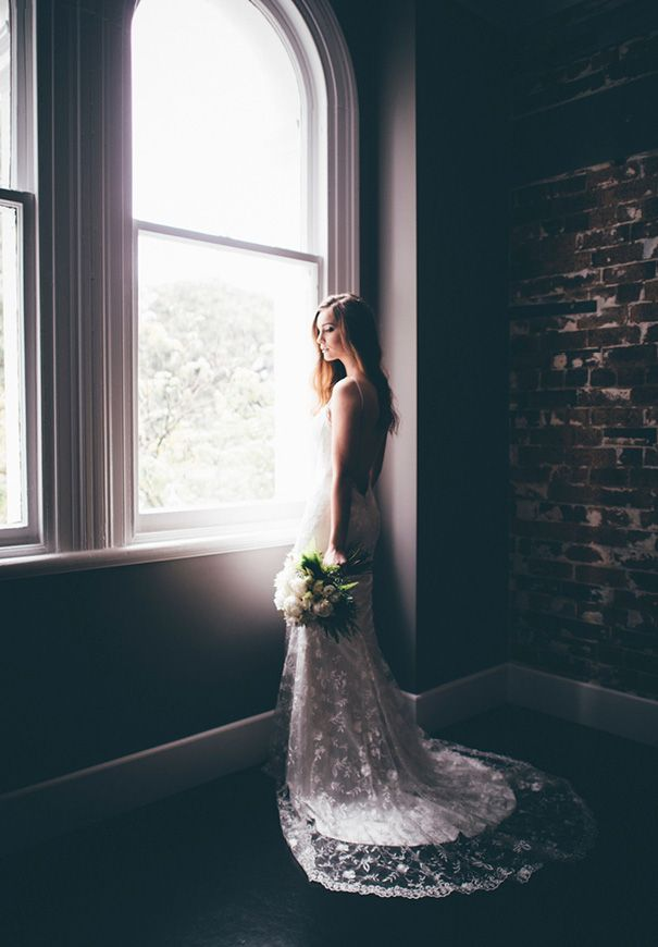 Lovely Lace: This beautiful lace gown by Made with Love is classic and elegant. #wedding #inspiration