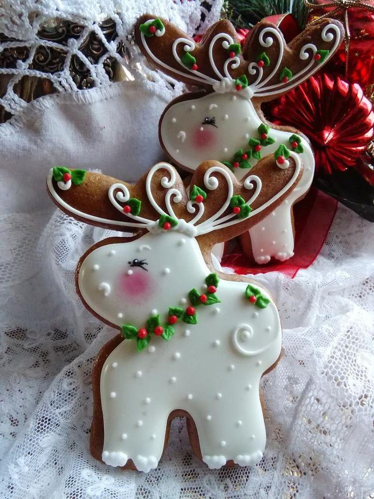 Snow white, Moose & Holly by Teri Pringle Wood