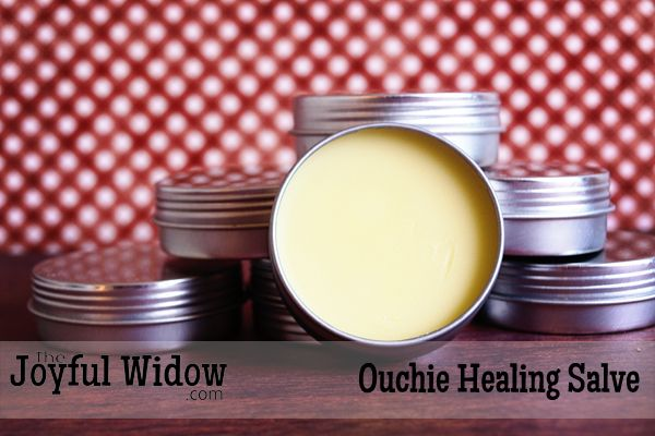 Having a good healing salve is a must in our house because we are all so accident prone. This salve is perfect for putting on cuts, abrasions, and burns.