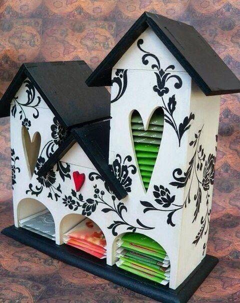 Чайные домики из фанеры - креативный декор для кухни