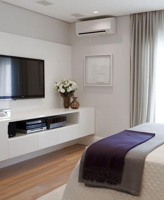Blanco Interiores: Integrar Tv no quarto!!!