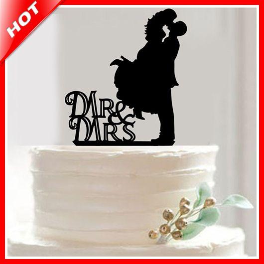 Горячая бренда г-н и г-жа акриловые свадебный торт топпер свадебные украшения свадебный торт стенд Casamento свадебные принадлежности ну вечеринку украшения