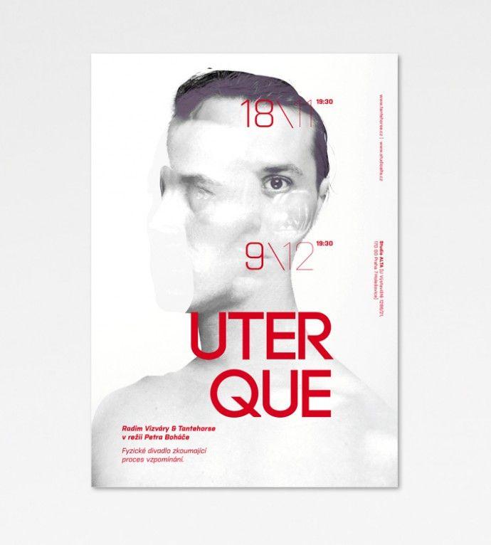Posters for theatre performance /popoli design, theatre posters, graphic design, eva chudomelová, portraits, photo, typography/