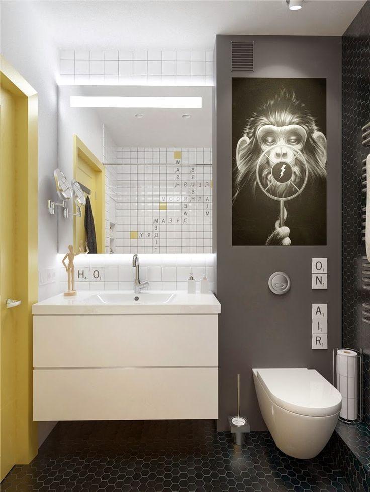 Compacte badkamer met hangtoilet