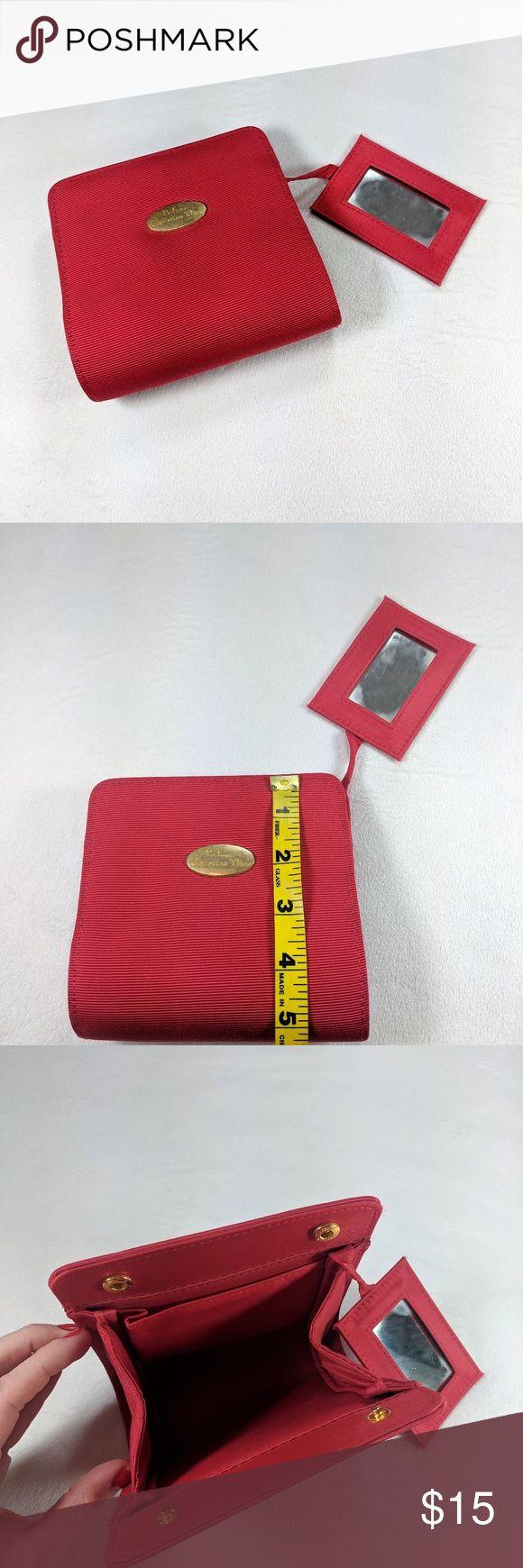 Vintage Christian Dior small cosmetic bag & mirror NWT