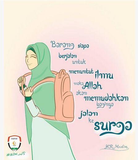 indeed  Hijab for Sure  Anime muslimah Islamic cartoon