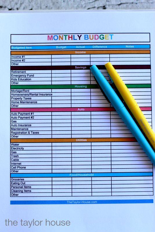 Budget Planner, Budget Binder, Free Printables, Sun Trust Bank