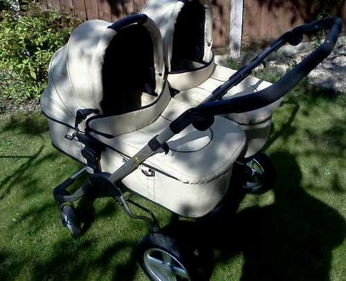 First wheels twin double pram Firstwheels CITY TWIN Double Pram