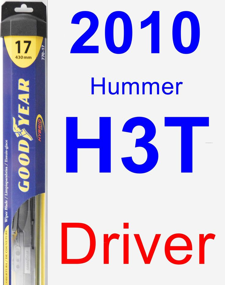 Driver Wiper Blade for 2010 Hummer H3T - Hybrid