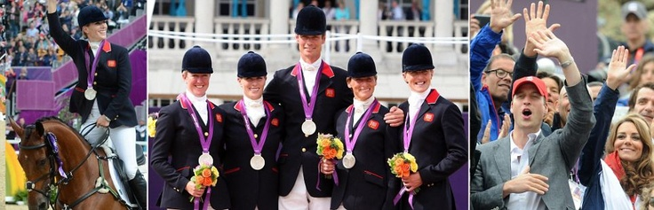 Silver Medal team in Team Equestrian - London 2014 Olympics, including Zara Phillips Tindall