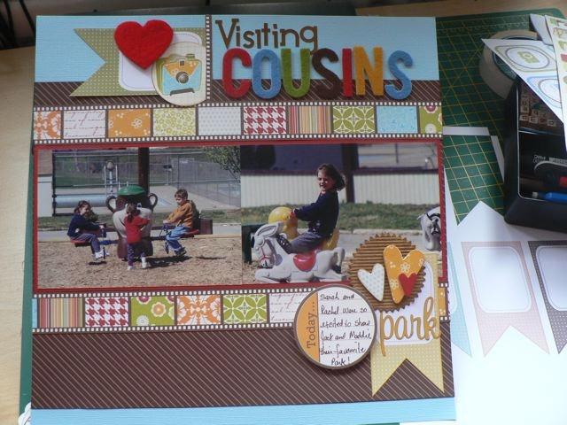 Visiting cousinsScrapbook Layout, Scrapbook Pages