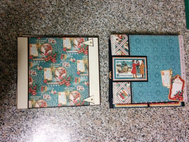 Pages 4 and 5 of the Christmas Carol mini album by graphic 45