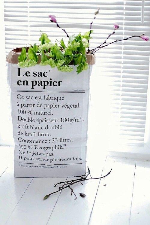 Nydelige LE SAC EN PAPIER  papirpose - du finner den på www.multitrend.no - gratis frakt!