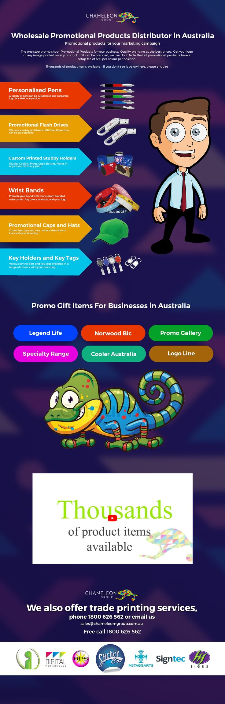 The one #stop #promo #shop. #Wholesale #Promotional #Products #Distributor in #Australia. Quality branding at the best prices.  Get your logo or any image printed on any product. If it can be branded, we can do it. Note that all promotional products have a setup fee of $50 per colour per position.