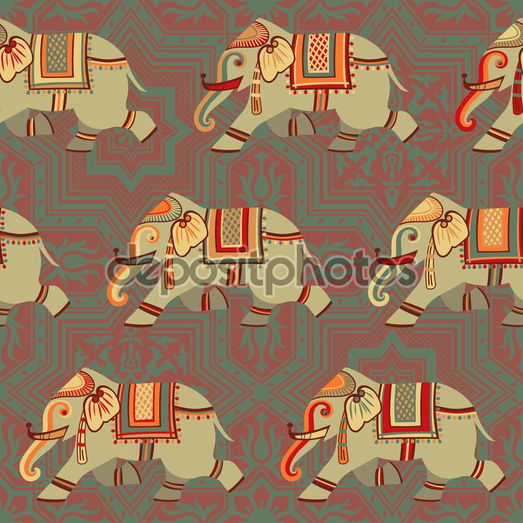 образец слона — Стоковая иллюстрация #58310499