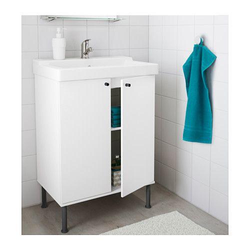 FULLEN / TÄLLEVIKEN Sink cabinet, white 24x16 1/8x34 1/4