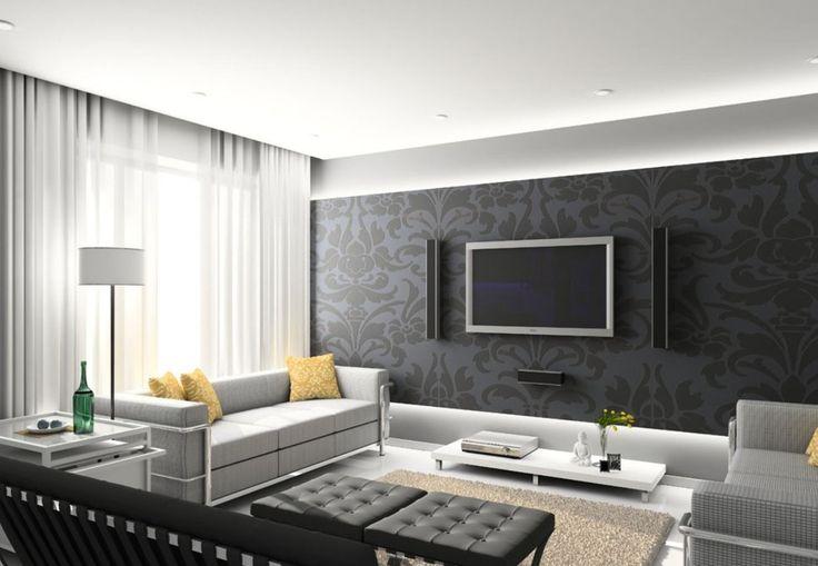 Flat Tv On Wall Design   Best Interior Decorating Ideas   HOME INTERIOR    Pinterest   Flats  Wall tv and Room wallpaper. Flat Tv On Wall Design   Best Interior Decorating Ideas   HOME