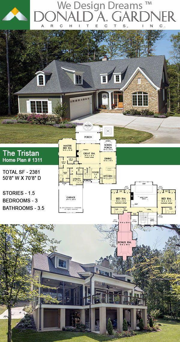 Two Story Narrow Lot House Plan Lake House Plans House Plans Narrow House Plans