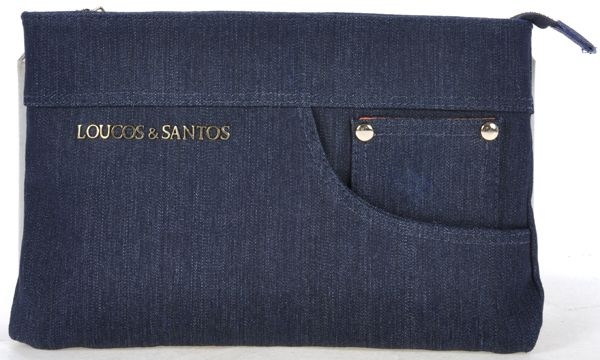 Denim Clutch from Loucos