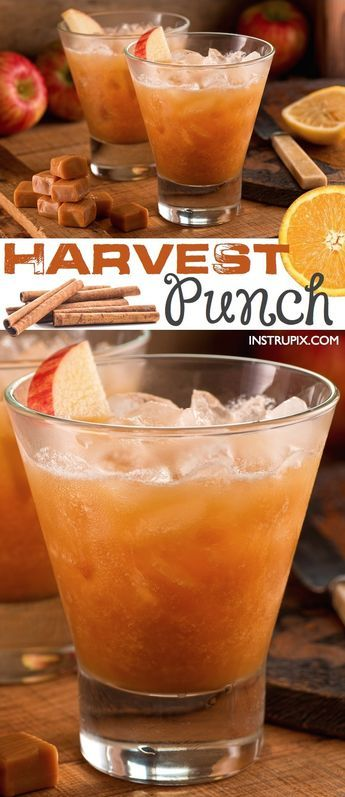 The BEST fall punch recipe for parties! This easy autumn alcoholic adult drink recipe is a hit for Halloween or Thanksgiving. It's a real crowd pleaser! Instrupix.com
