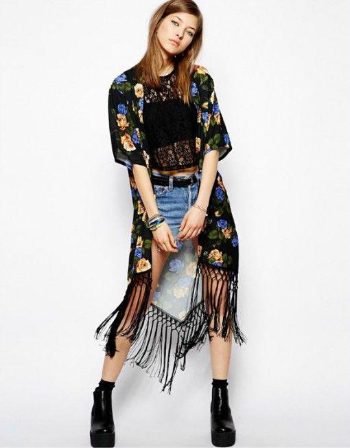 Kimono cu Franjuri Hippie - Outliers.ro