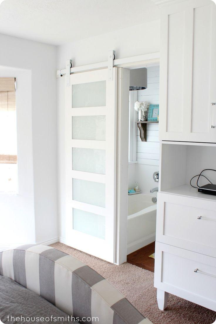 Beautiful Doors - white modern sliding barn door House of Smiths