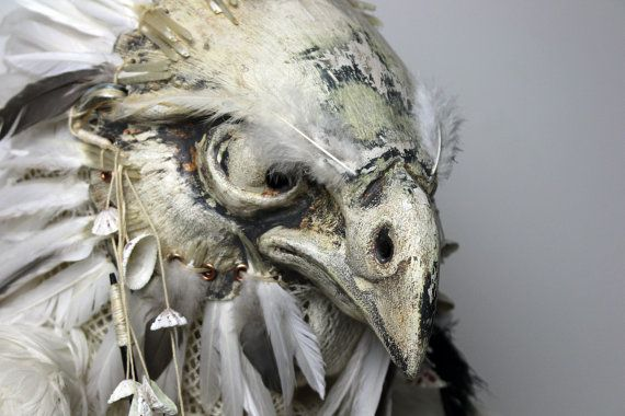 Full head Falcon Bird Mask by personaemasks on Etsy