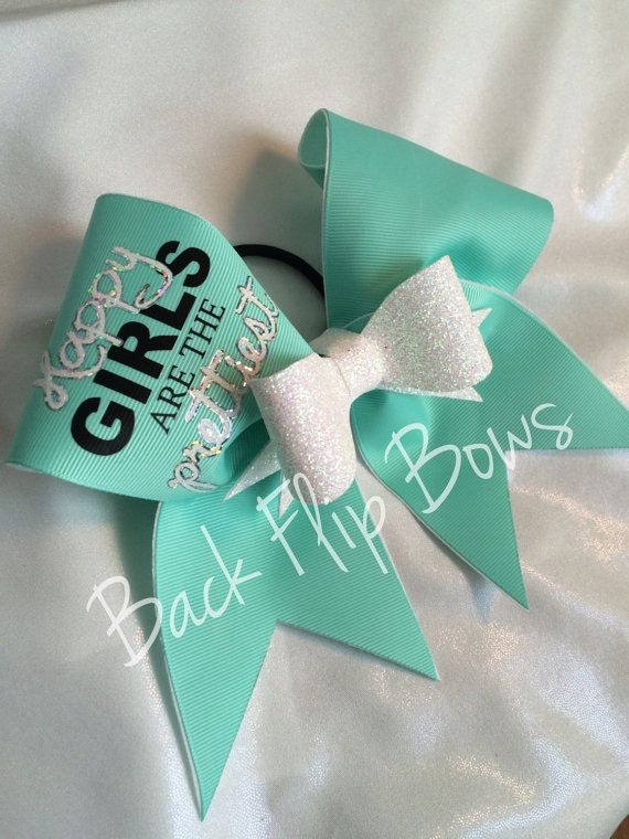 Hey, I found this really awesome Etsy listing at https://www.etsy.com/listing/225117726/happy-girls-are-the-prettiest-cheer-bow